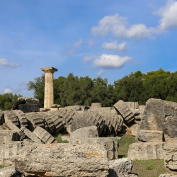 Olympia is the site of the first Olympics.