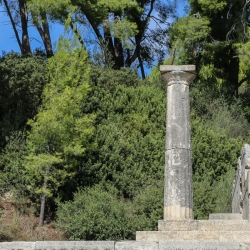 Near Hera's temple, the site the Olympic torch is still lit for each games.