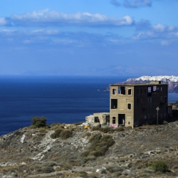 Abandoned building on the cliff.