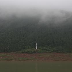 Waking up on the misty Yangtze.