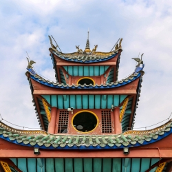 Top of the Shibaozhai Pagoda.