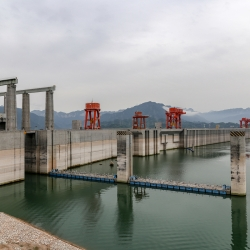 The dam provides hydroelectric power and flood control of the mighty Yangtze.