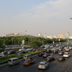 Birdsnest and Beijing traffic