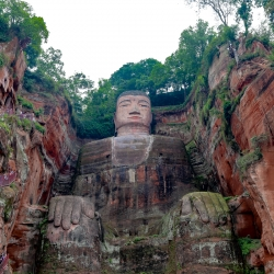 Leshan Buddha, 71 meters tall. The tallest pre-modern scultpure in the world.