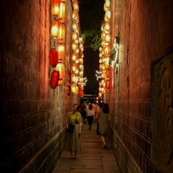 There was something about this lantern lit alley.