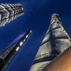 Shanghai Tower, the tallest building in Asia. 128 stories and has the highest observation deck on the planet.