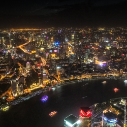 Shanghai from atop the Shanghai Tower.