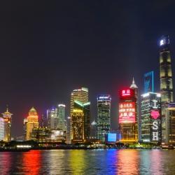 Shanghai skyline view from the Bund