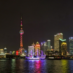 Shanghai at night.