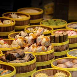 Dumpling shop in Tianzifang alley.