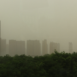 Dust, dirt and smog filled the air in Xi'an.