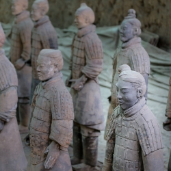They were created and buried with Qin to help him in the afterlife.