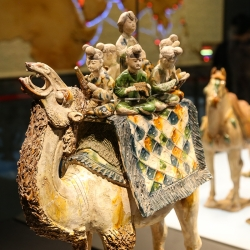 Camel art is all over Xi'an because of the Silk Road.