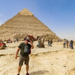 It was WINDY on the Giza plateau. At some points it was like getting sand blasted.